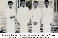 02 Fr. Bosco as seminarian in Aluva with his classmates from Trichur