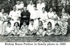 04 Fr. Bosco Puthur in family photo in 1965 just before leaving to Rome Fr. G.F. Choondal, Uncle