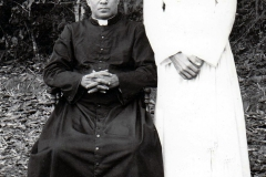 05 Fr. Bosco Puthur with his uncle Fr. G.F. Choondal just before leaving for Rome in 1965