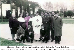 21 group photo after ordination with friends from Trichur  2 from the left sitting is Archbp. Geo
