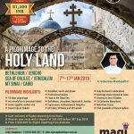 Pilgrimage to Holyland with Fr. Sebastian Mandapathil – 2019 Jan 7-17