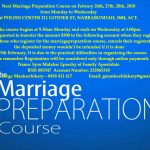 Marriage Preparation Course: 2018 Februry 26th, 27th, 28th.